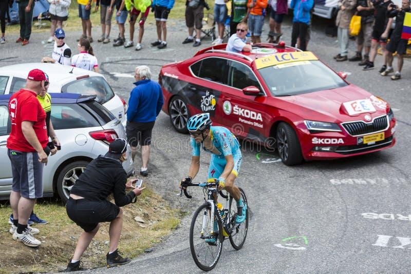 The Cyclist Tanel Kangert - Tour de France 2015 royalty free stock photos