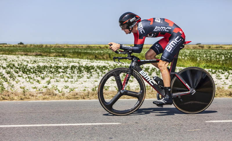 The Cyclist Tejay van Garderen royalty free stock photography