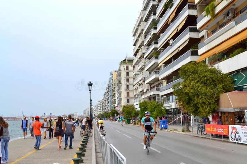 Cyclist thessaloniki embankment editorial photo image for 3rd international salon of photography smederevo 2013