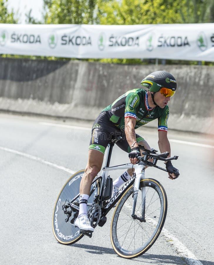 The Cyclist Thomas Voeckler - Tour de France 2014 royalty free stock photos