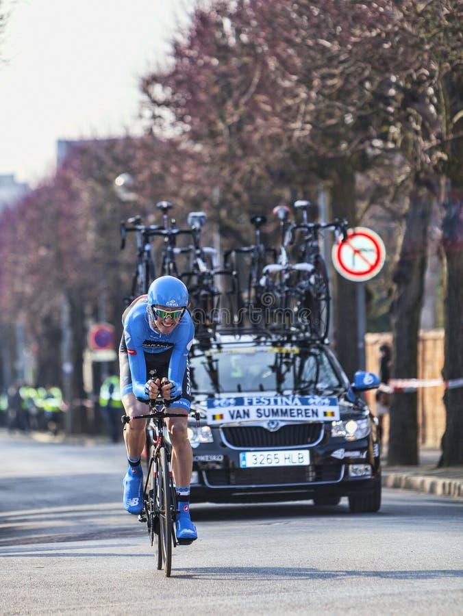 Download The Cyclist Van Summeren Johan- Paris Nice 2013 Prologue In Houi Editorial Photo - Image of rider, action: 31309151