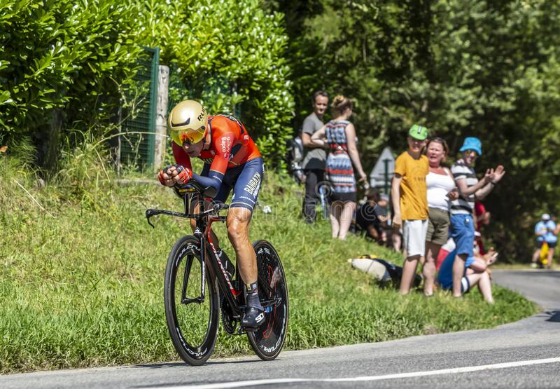 The Cyclist Vincenzo Nibali - Tour de France 2019 stock photo