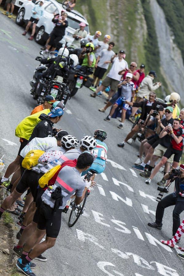 The Cyclist Vincenzo Nibali - Tour de France 2015 stock photos