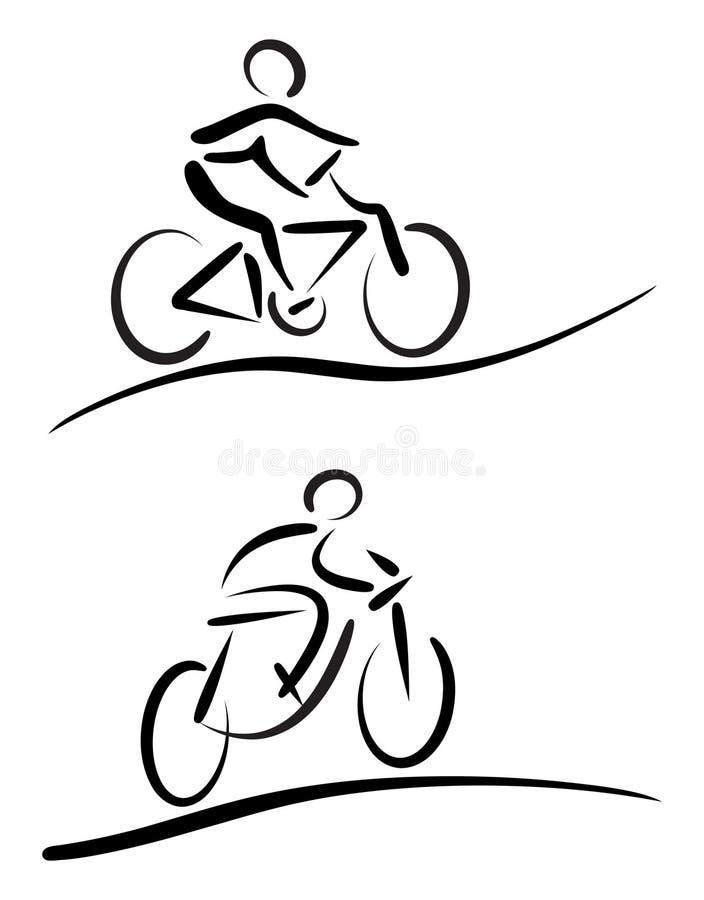 Cycliste illustration stock
