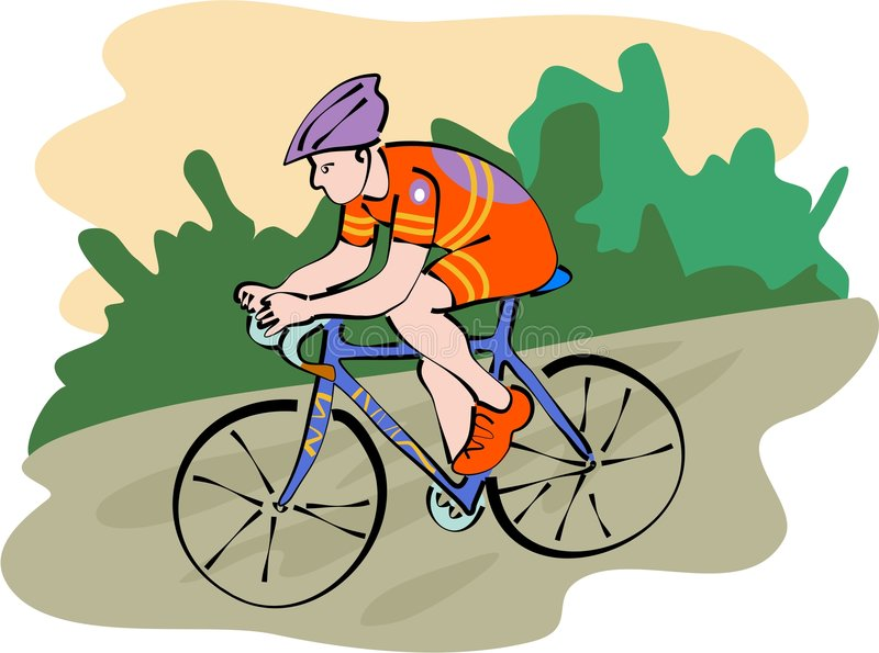 Cycliste illustration libre de droits