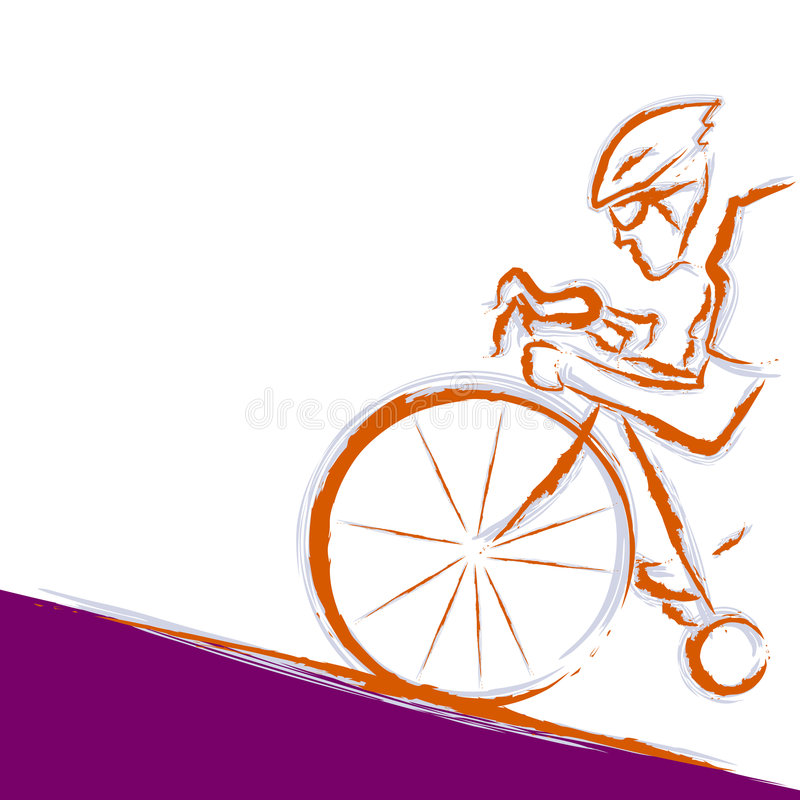 Cycliste illustration de vecteur