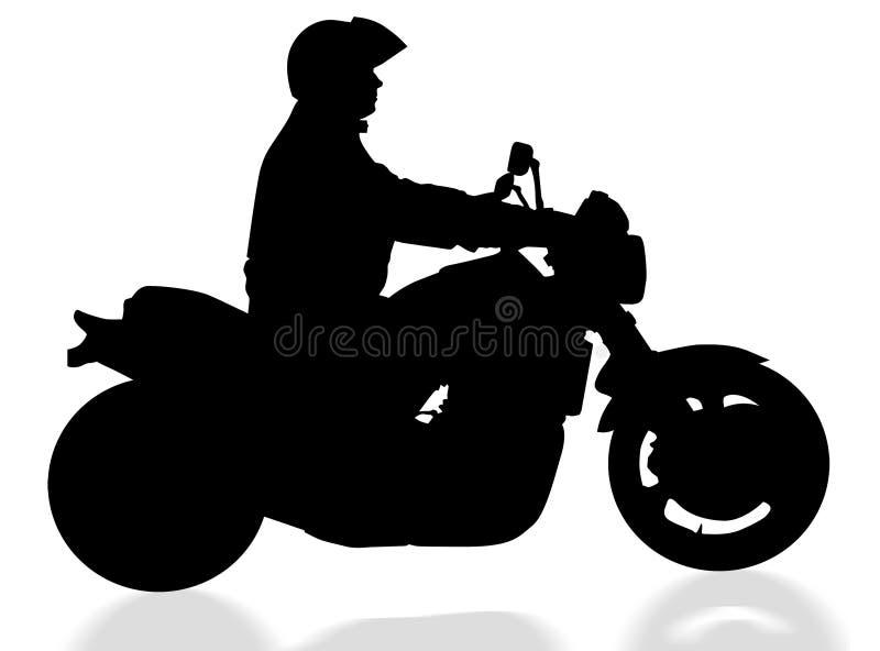 Cycliste d'isolement avec le chemin de découpage illustration de vecteur