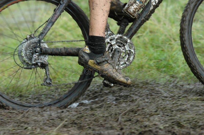 Cycliste dans l'action image libre de droits