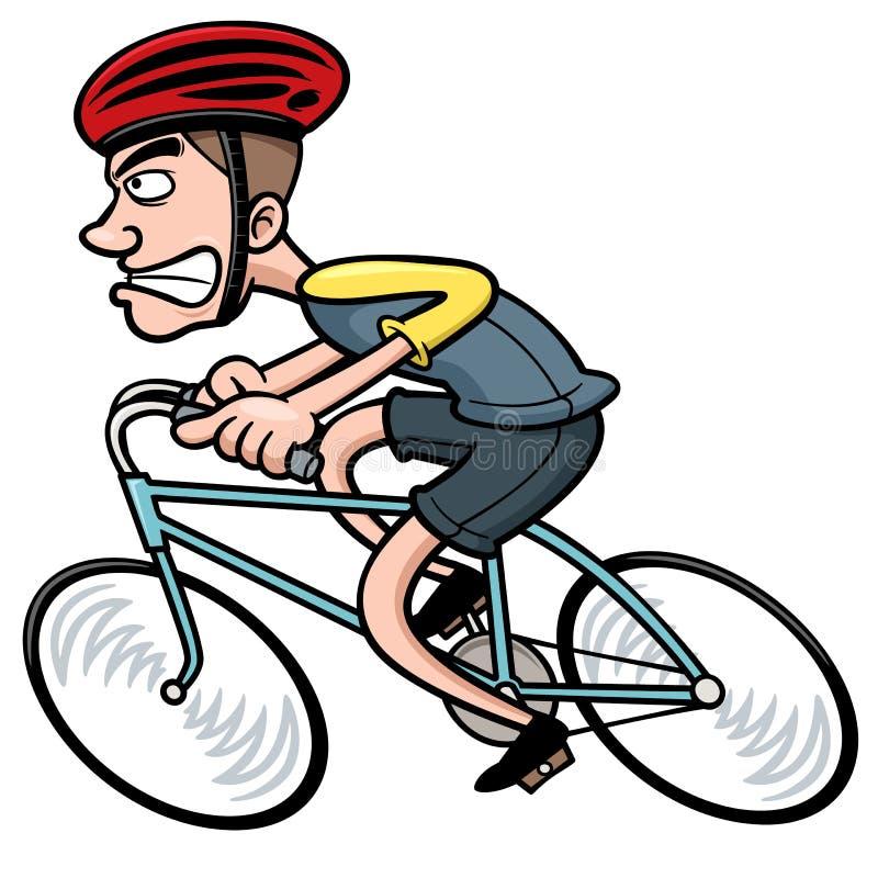 Cycliste de bande dessinée illustration libre de droits