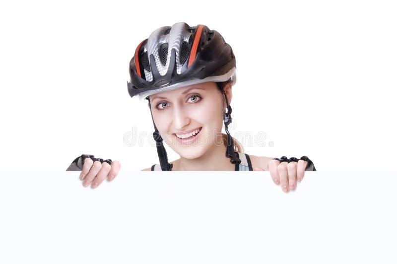 Cycliste de femme photos libres de droits