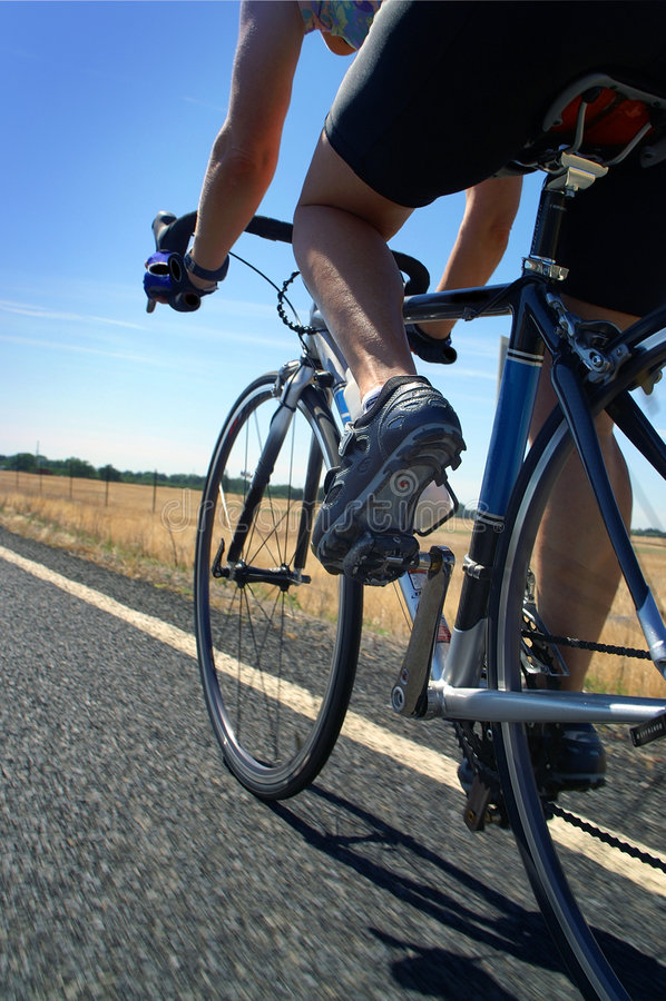 Cycliste de route photographie stock