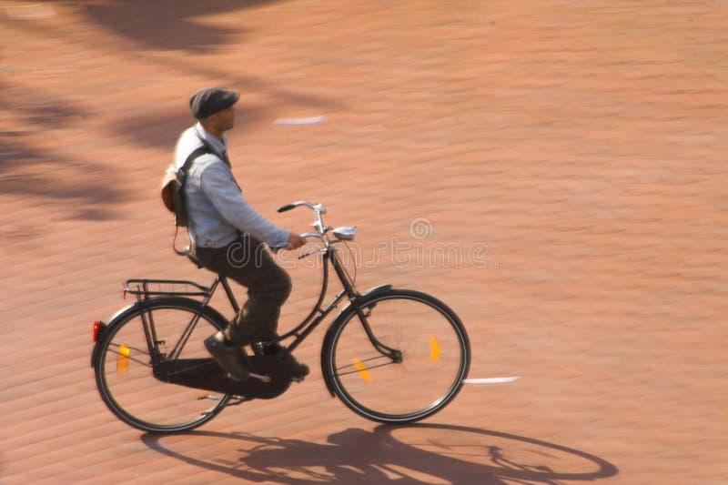 Cycliste de ville photo libre de droits