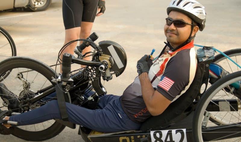 Cycliste handicapé photos libres de droits
