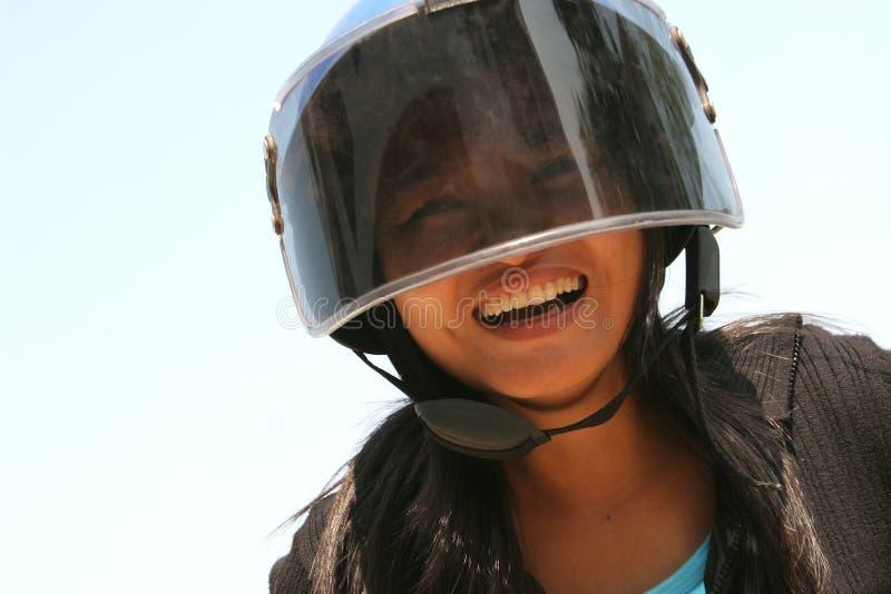 Cycliste heureux photos libres de droits