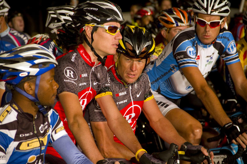 Cycliste Lance Armstrong D U S Image stock éditorial