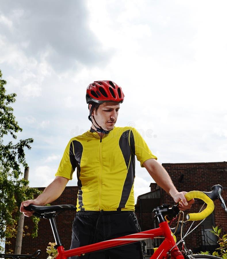 Cycliste urbain image libre de droits