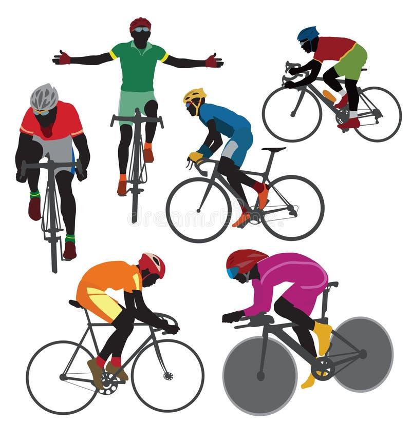 Cyclistes illustration stock