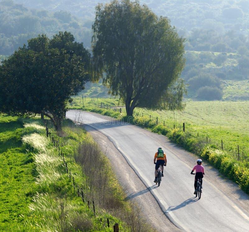 Cyclistes photographie stock