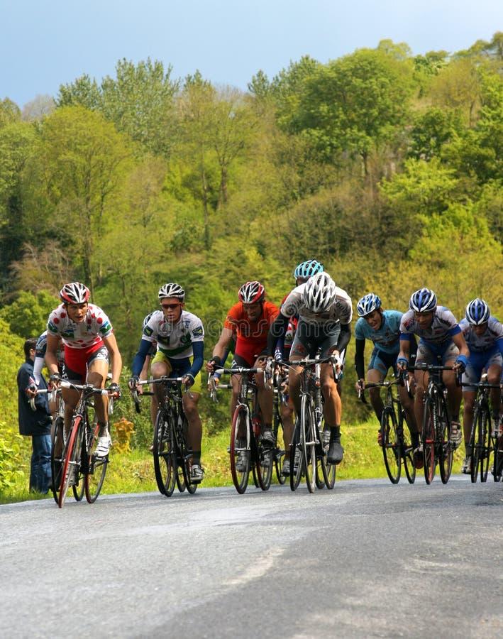 Cyclistes dans l'excursion de Brittany photographie stock