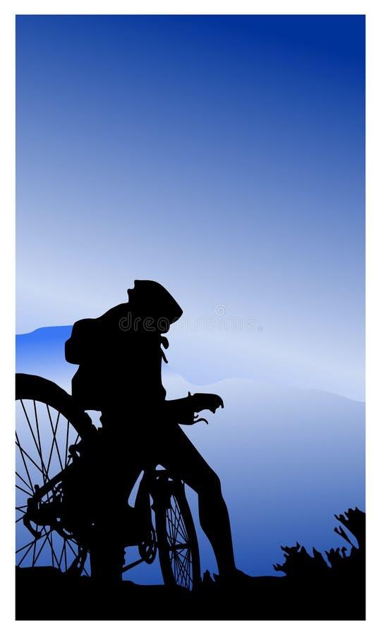 Cyclistes de montagne illustration libre de droits