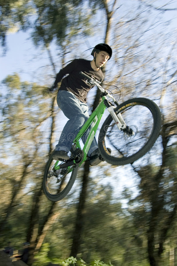Cyclistes extrêmes photographie stock