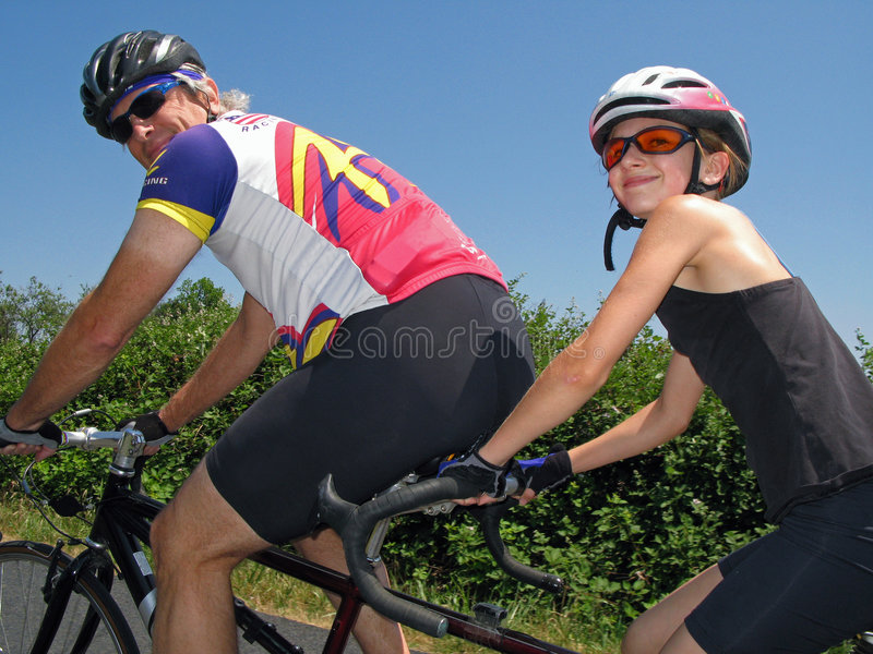 Cyclistes tandem images stock