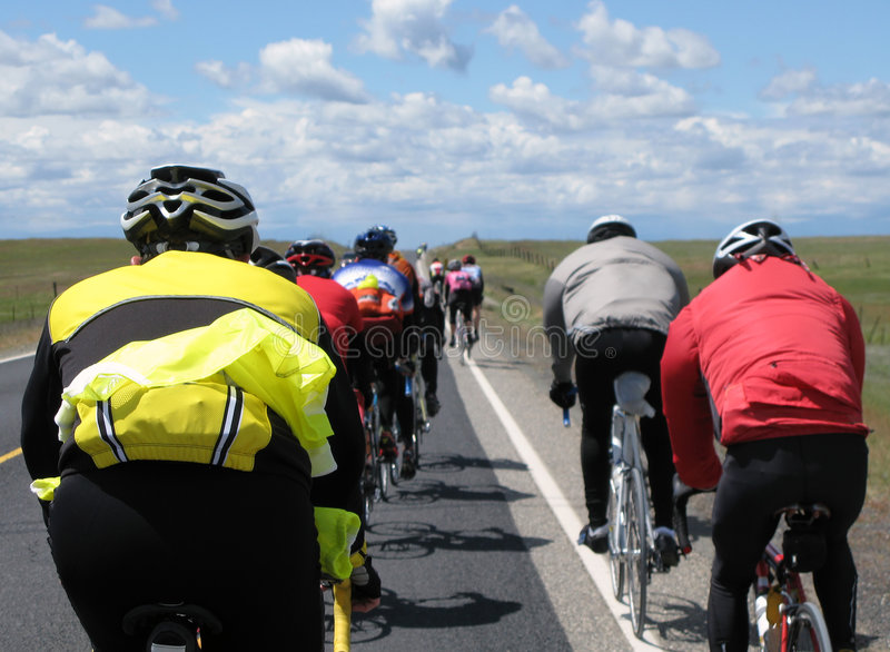 Cyclists royalty free stock images