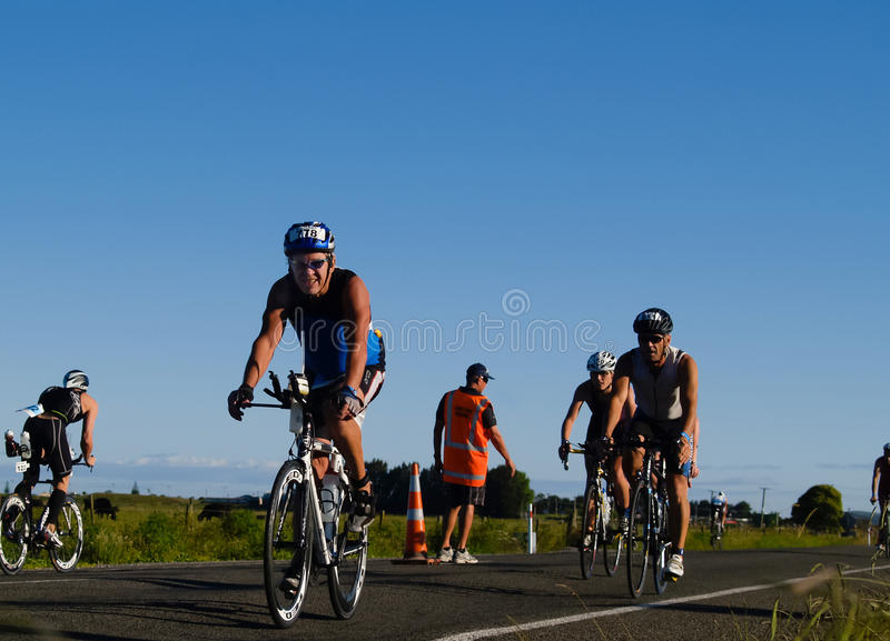 Download Cyclists Appoach Halfway Turnaround. Editorial Stock Image - Image: 17750509