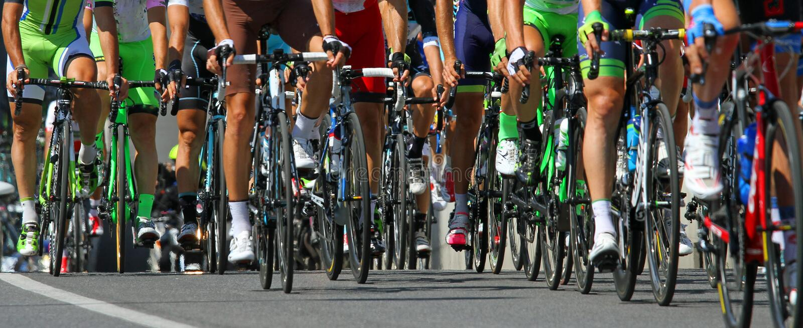 Cyclists ride during the international race royalty free stock photography