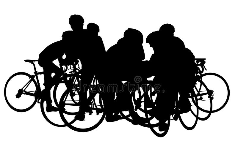 Download Cyclists on vacation stock vector. Image of people, professional - 12021246