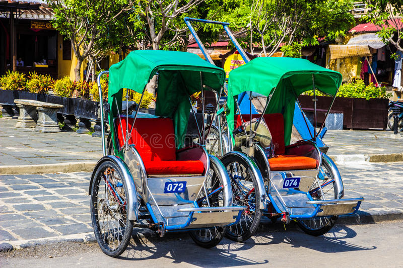 Cyclo in Hoi An royalty-vrije stock afbeelding