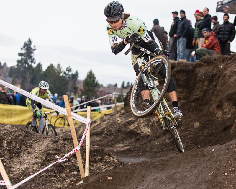 Cyclocross - Aaron Bradford royalty-vrije stock foto's