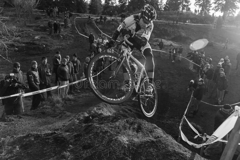 Cyclocross - Aaron Bradford imágenes de archivo libres de regalías