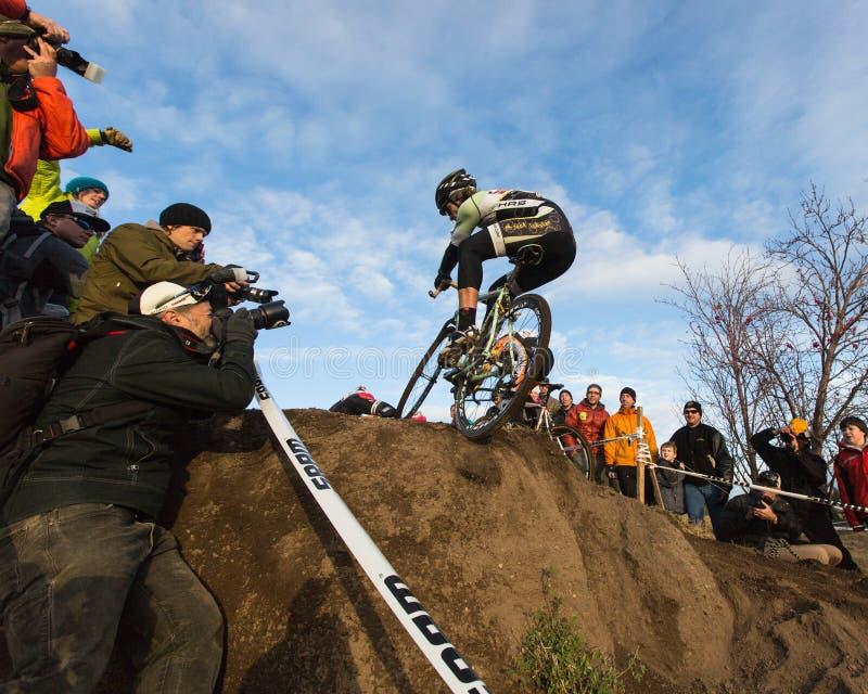 Cyclocross - Aaron Bradford fotos de archivo