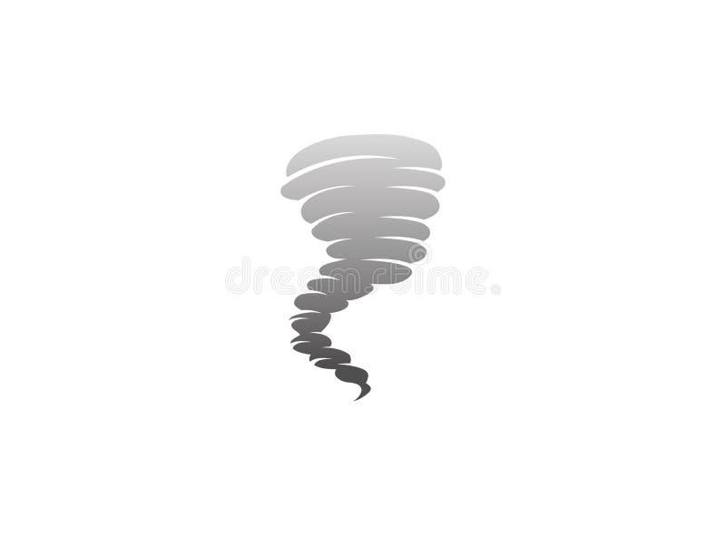 Cycloon en wervelwindonweer voor de illustratie van het embleemontwerp vector illustratie