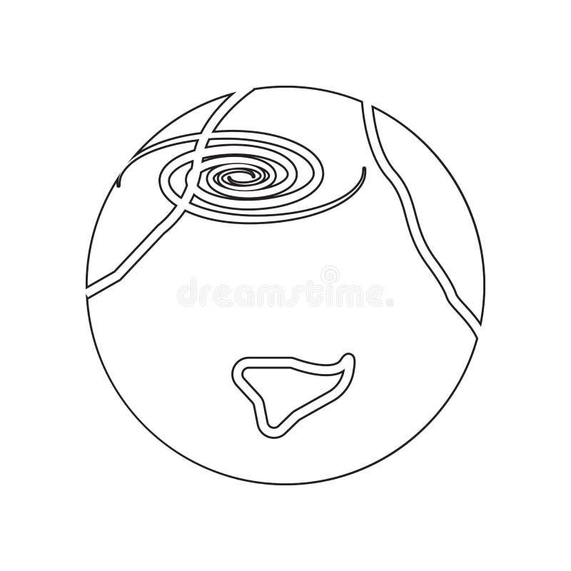 Cycloonpictogram r Overzicht, dun lijnpictogram voor websiteontwerp en ontwikkeling stock illustratie