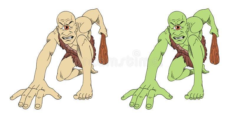 cyclops royalty-vrije illustratie