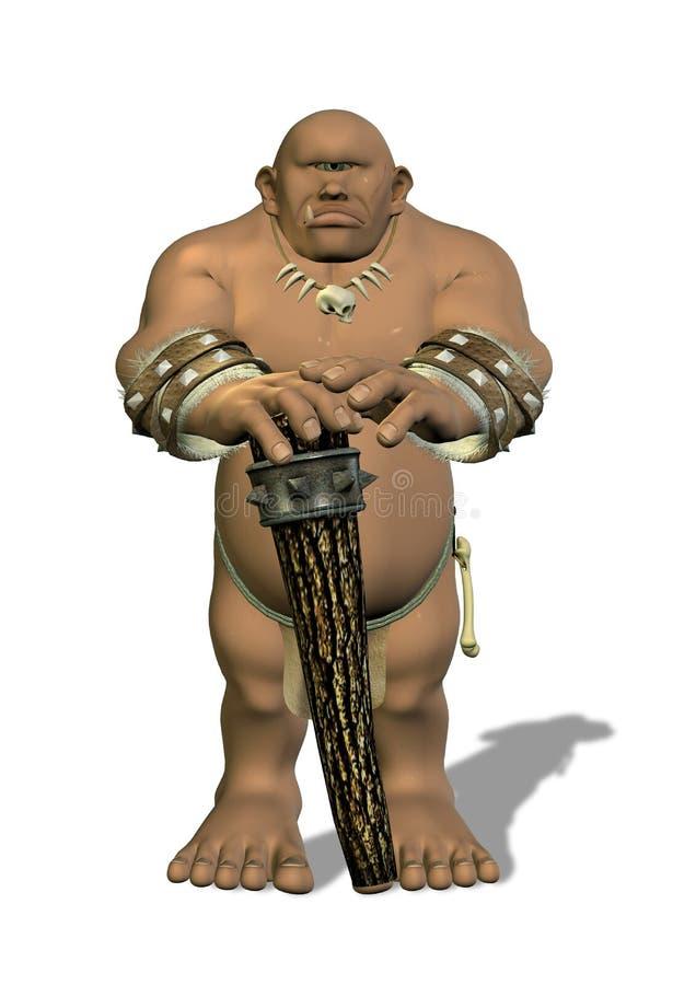 Cyclops con il percorso di residuo della potatura meccanica royalty illustrazione gratis
