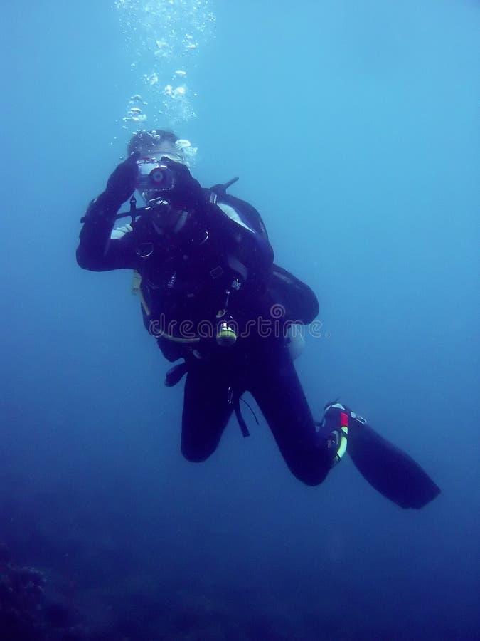 Cyclops scuba diver underwater photography royalty free stock photos