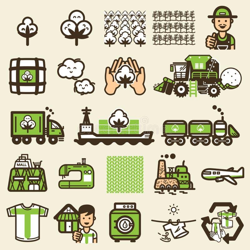 Cyclus van t-shirtpictogram vector illustratie