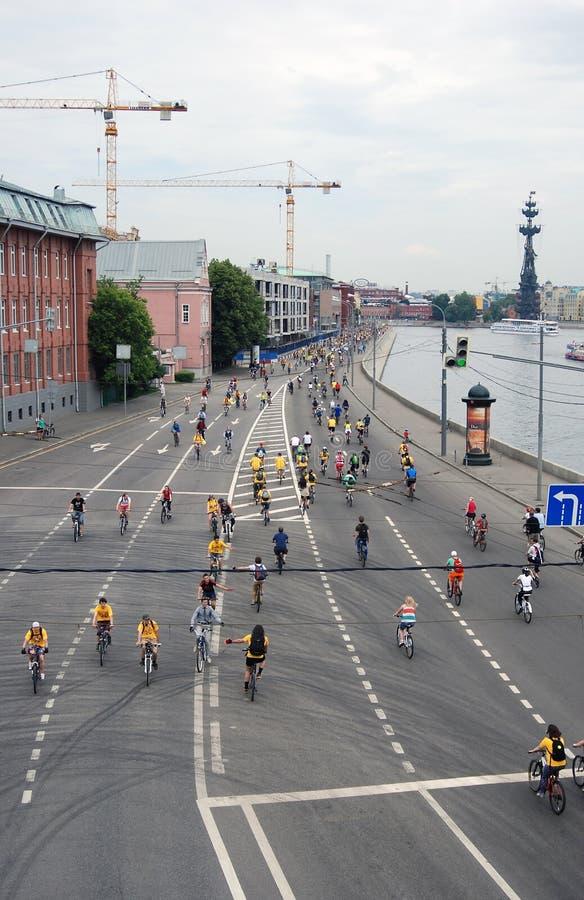 Cyclusras in Moskou stock fotografie