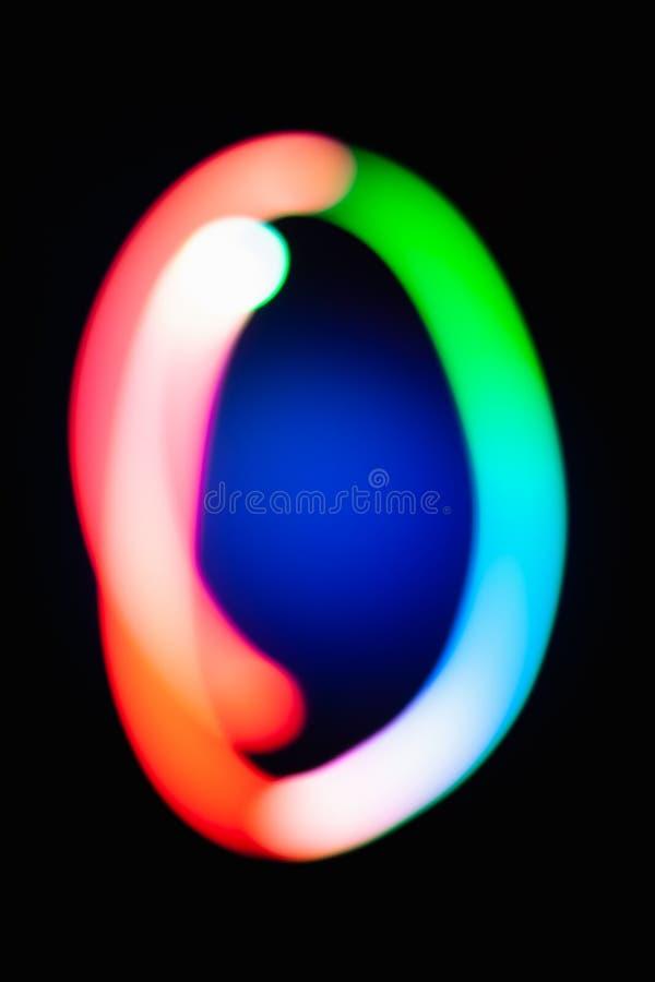 (0) cyfr zero null Jarzyć się liczby na Ciemnym tle Abstrakcjonistyczny nocy światła obraz Kreatywnie artystyczny kolorowy bokeh  royalty ilustracja