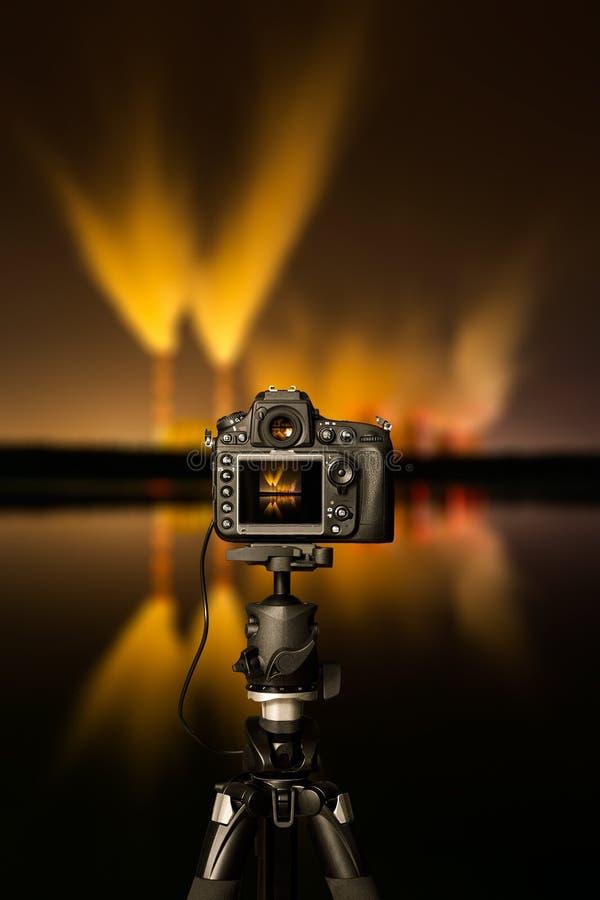 Cyfrowa kamera noc widok ilustracji