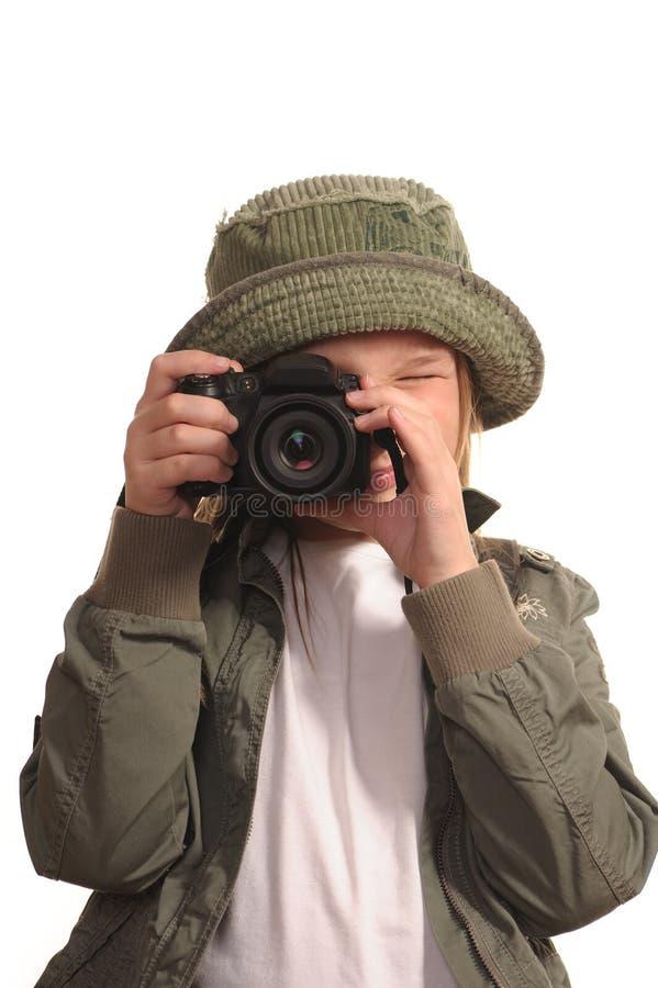 cyfrowa kamery dziewczyna lubi slr młody zdjęcie stock