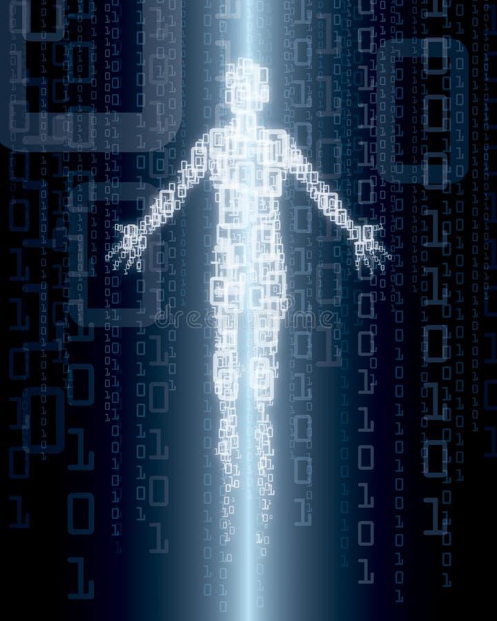 cyfrowa osoba ilustracji