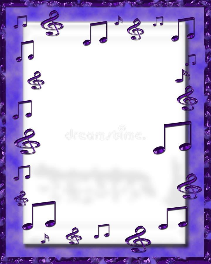 cyfrowa ramowa muzyka ilustracja wektor