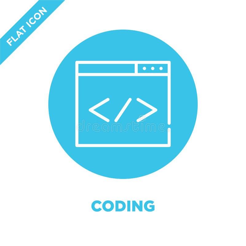 Cyfrowanie ikony wektor Cienka kreskowa cyfrowanie konturu ikony wektoru ilustracja cyfrowanie symbol dla używa na sieci i wisząc ilustracja wektor