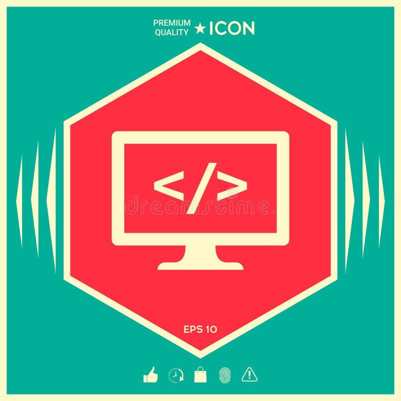 Cyfrowanie symbolu ikona royalty ilustracja