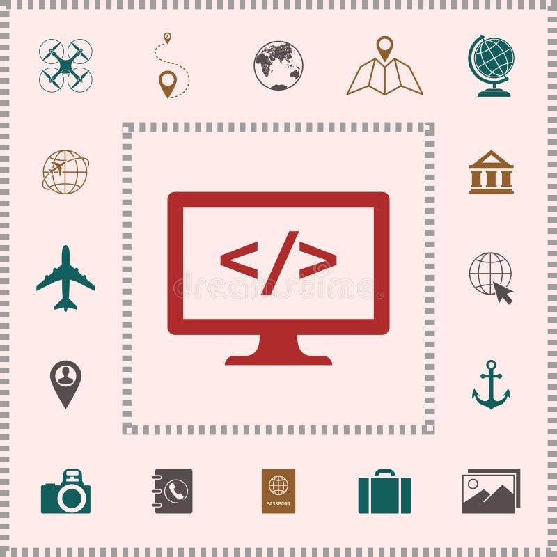 Cyfrowanie symbolu ikona ilustracja wektor