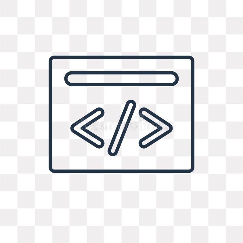 Cyfrowanie wektorowa ikona odizolowywająca na przejrzystym tle, liniowy Co ilustracja wektor
